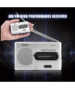 Portable, Pocket-Size AM-FM Radio-Ideal for Emergencies, Private Listening - $10.95
