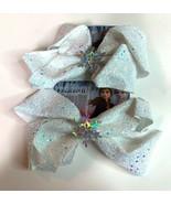 Disney Frozen 2 Girls Bow Clip Elsa Anna Snow Sparkle Hair Bow Lot of 2 - $17.37