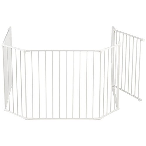 BabyDan Flex Hearth Gate Extra Large 35.4-109.5-, White