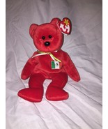 Ty Osito Mexican Beanie Baby Red Bear MWMT retired 1999 - $17.05