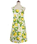 LilMents Lemon And Leaves Kitchen Baking Cooking Apron - $25.38