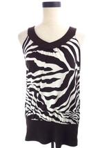 NEW Women's Brown Zebra Tiger Animal Print Blouse L Size Large - $18.00