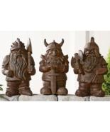 """17"""" Cement Viking Gnome Design Garden Figurine 3 Assorted Designs - $99.99"""