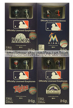 *iHIP Officially Licensed MLB TEAM LOGO Earphones FOR iPOD+iPHONE *YOU C... - $10.60 CAD
