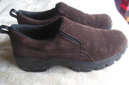 Lands End Women's All Weather Brown Suede Slip-On Shoes Size 9.5 M - $45.00