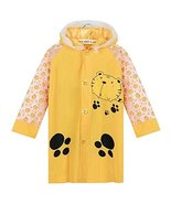 Yellow Tiger Cute Baby Rain Jacket Infant Raincoat Toddler Rain Wear M - $24.03