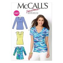"""McCall Pattern Company M6963 Misses' Tops, Size F5 """"16-18-20-22-24"""" - $14.21"""