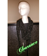Black & Grey Mix Boa Handmade Scarf - $15.00