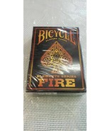 Official Bicycle Elements Series Fire Playing Cards Orange & Black -Bran... - $7.87