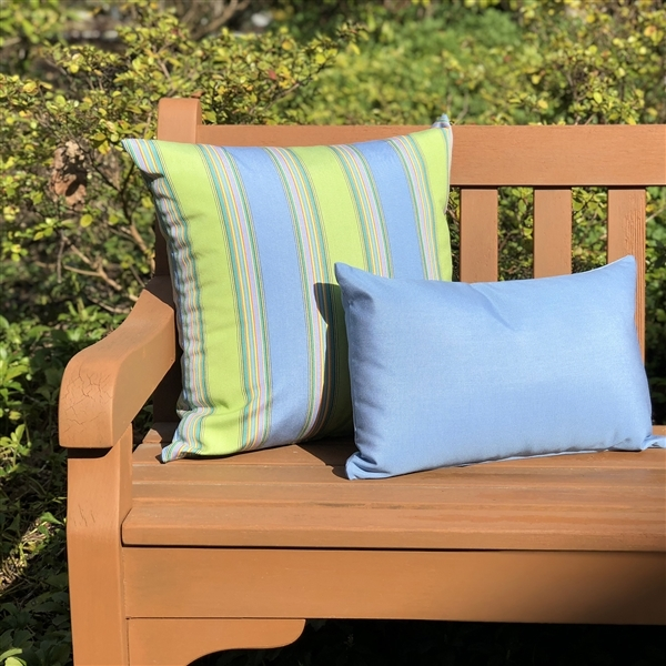 Pillow Decor - Sunbrella Air Blue 12x19 Outdoor Pillow