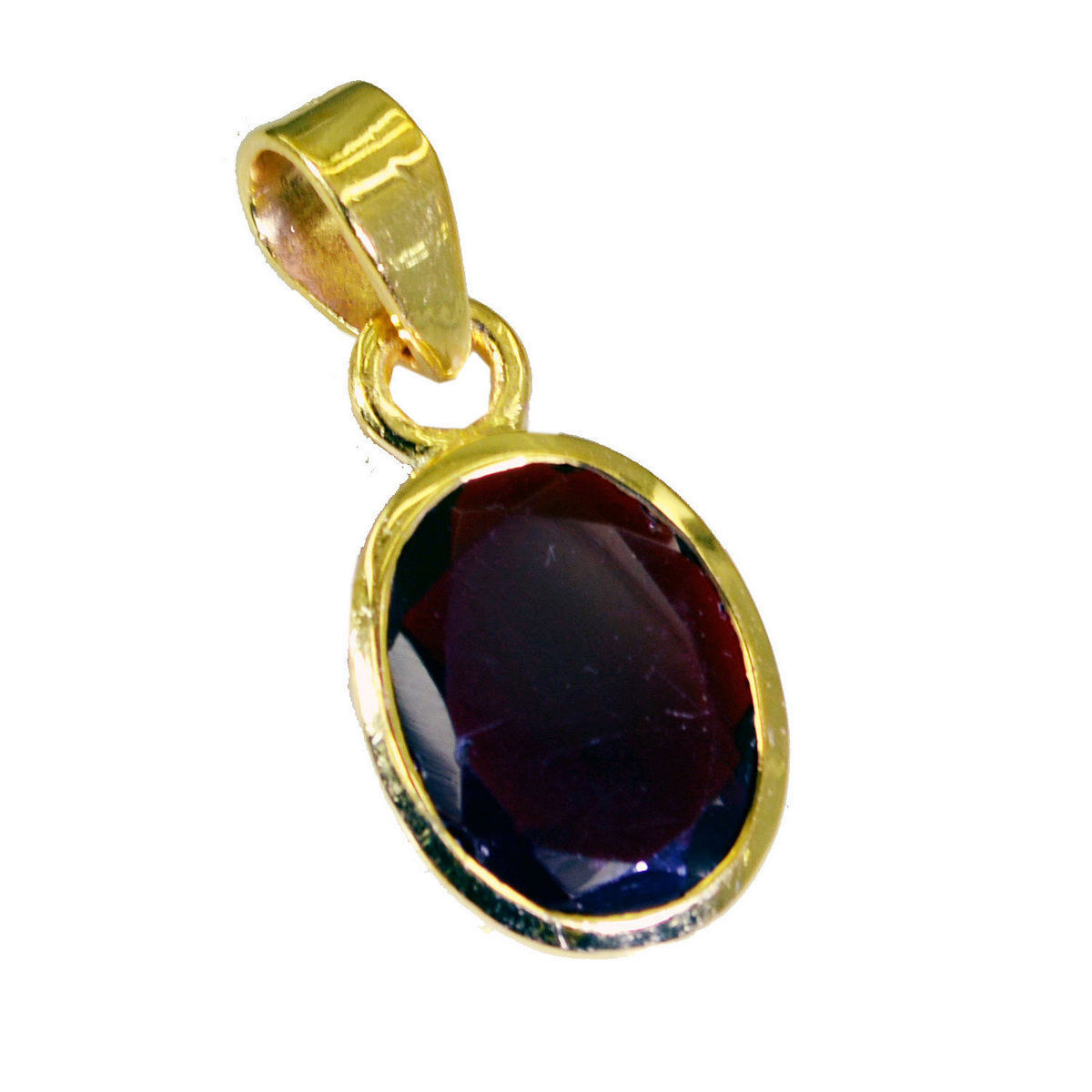 splendid Ruby CZ Gold Plated Red Pendant Glass wholesale US