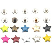 "Bluemoona 25 sets - Alloy Stars Shape 12mm 1/2"" Rivet Stud Button Screw ... - $7.85"