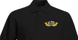 US NAVY with Oak leaves Retired Embroidered Polo Shirt Embroidered gift - $29.95+