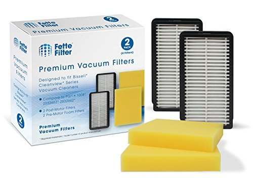 Fette Filter - Pre-Motor Foam and Post-Motor Filter Compatible with Bissell 1008