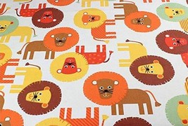 [Lion] 1.5M Wide Handmade Cotton Canvas Stripe Fabric (2x1.5M)
