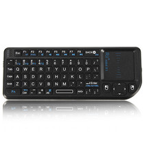 Rii Mini X 1 2.4G Wireless Air Black Keyboard w/Mouse Touchpad Small & E... - $23.05