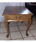 Solid Oak Side Table / End Table with Drawer by Mersman - $299.00