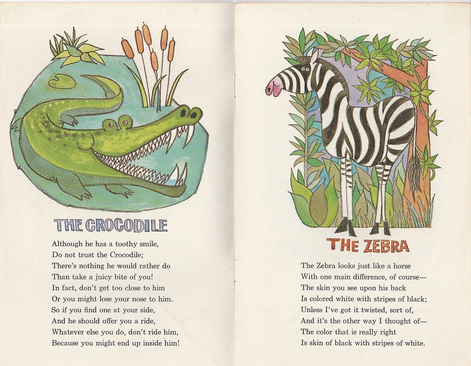 The Children's Zoo 1960s Vintage Picture Book from Eli Lilly Novacebrin Vitamins