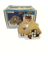 Wee Crafts Hillside Cottage English Country Village Painted Finished Lig... - $49.49