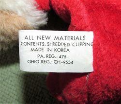 "10"" Vintage ENESCO PJ TEDDY Plush Bear BABY'S FIRST CHRISTMAS Stuffed KOREA RARE image 6"