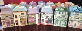 Lenox Spice Village Spice Jars Buildings Houses Vintage 1989 Porcelain Y... - $137,58 MXN