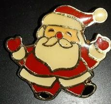 Vintage Santa Clause  Enamel Lapel Collector Brooch/Pin - $6.50