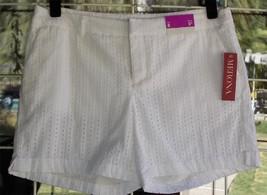 "New Merona White Eyelet Side Pockets Shorts Sz. 8  34"" Waist - $9.89"
