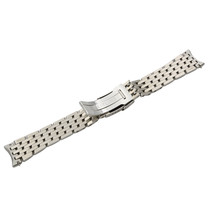 Breitling 442A 22-18mm Stainless Steel Fold Over Clasp Safety Mens Bracelet - $1,099.00