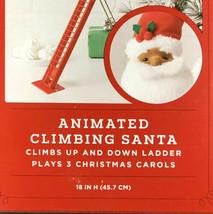 "Animated Climbing Santa By Wondershop Plays 3 Christmas Carols 18""  New NIB image 2"