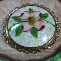 "Vintage Jewelry:1 1/2"" Cloissonne Brooch 170821 - $8.90"