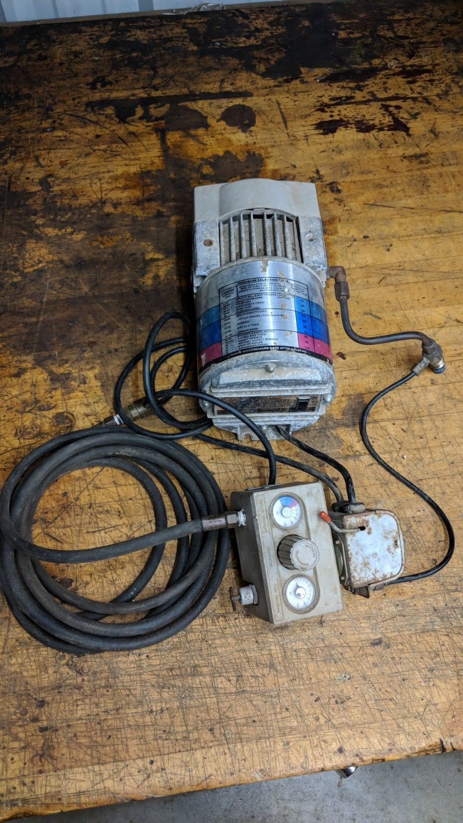 Campbell Hausfeld PowerPal Air Compressor regulator pressure switch for tank