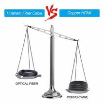 Huaham Fiber HDMI Cable 50ft, 4K 60Hz HDR Active Optic Fiber HDMI Cable, 8K Vide image 6