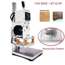 Upgraded Hot Foil Stamping Machine 5x7cm 110V withFull Scale onTheBas... - $164.71