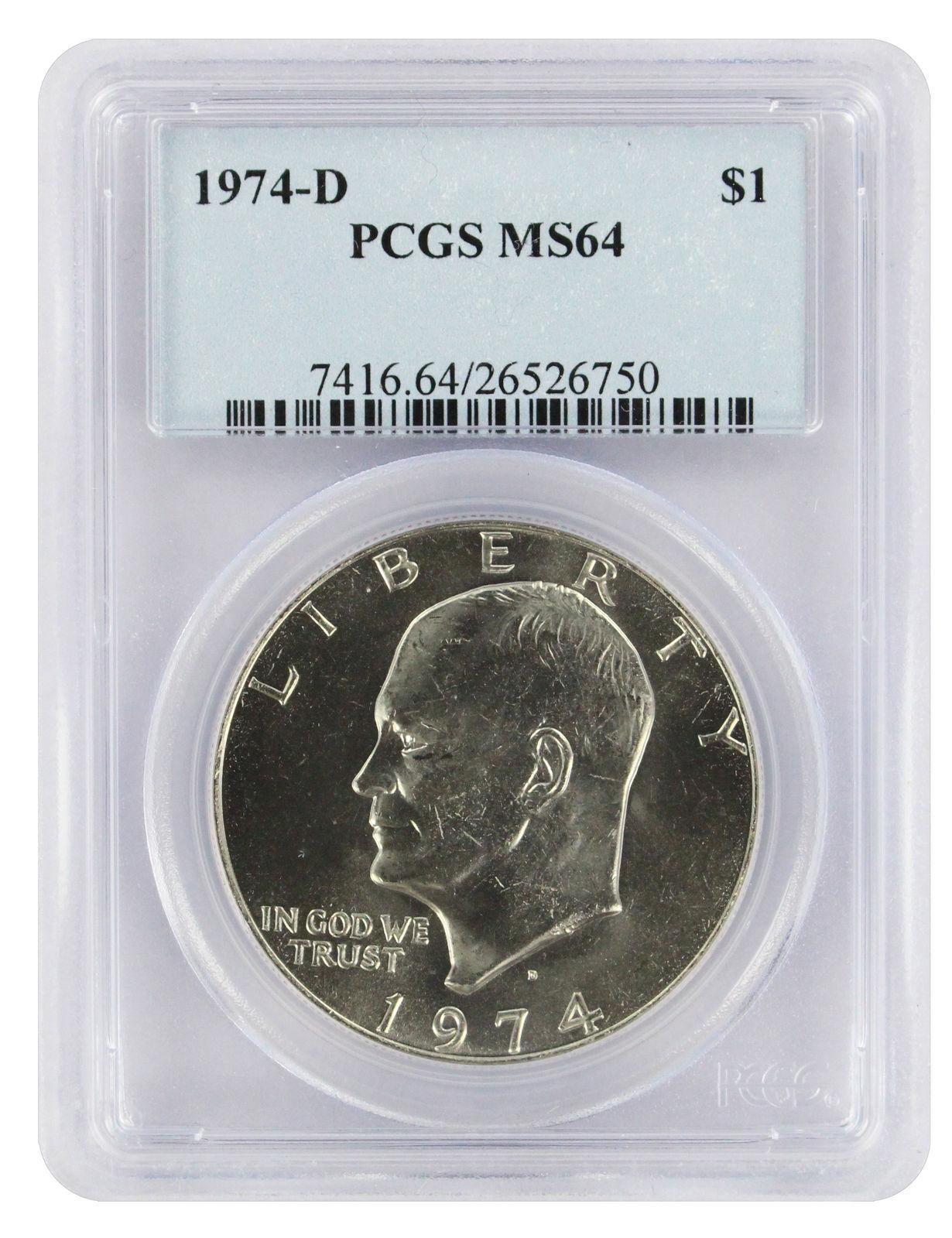 1971 Eisenhower Dollar PCGS MS64 Light Toning