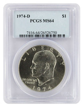 1974-D $1 Ike Dollar - £14.97 GBP
