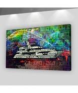 SuccessHuntersPrints Yacht Money Canvas Print Wall Office Decor Dollars ... - $69.45