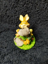 Russ Berrie Snugglebumps Easter Bunny Rabbit w/ Spring Flowers Resin Fig... - $6.95
