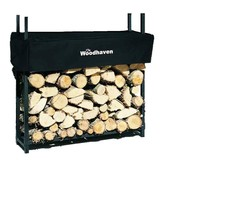 The Woodhaven 3 Foot Firewood Log Rack with Cover - $133.04