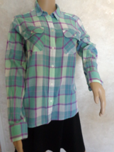 American Eagle Outfitters Green Plaid Blouse Size M/M (#2936) - $7.99