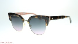 Kate Spade Women Sunglasses Karri 02NL Havana Pattern Green Grey Fuschia... - $126.10