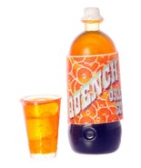 DOLLHOUSE MINIATURES QUENCH ORANGE SODA AND MUG SET #FA11002 - $3.50