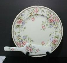 "MIB Vintage Andrea by Sadek Karen Cake Set Plate & Server 11"" Dia Made i... - £20.15 GBP"