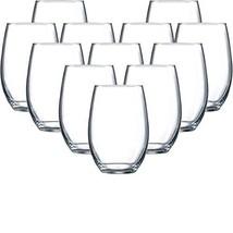 Circleware Newtown Stemless Wine Glasses, Set of 12, 16 (12pc Newton Ste... - $46.40
