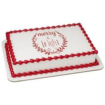 Elemental Merry & Bright Edible Cake Topper Image - $9.99+