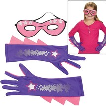 Girl's Superhero Mask & Gloves Set Costume Dress Up - $13.29
