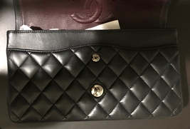 100% Authentic Chanel BLACK QUILTED LAMBSKIN MEDIUM CLASSIC DOUBLE FLAP BAG SHW image 13