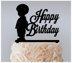 Birthday Cake topper,Cupcake topper,silhouette classic boy and girl : 11 pcs - $20.00