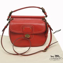 COACH Red LEATHER WILLIS VERMILLI 70TH ANNIVERS... - $233.75