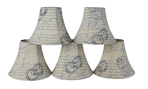 Urbanest Set of 5 Chandelier Lamp Shades, 3-inch by 6-inch by 5-inch, Bell, Vint