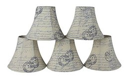 Urbanest Set of 5 Chandelier Lamp Shades, 3-inch by 6-inch by 5-inch, Be... - $29.69